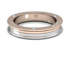 Destiny Jewellery Hope, Love, Peace ring embellished with Swarovski crystals