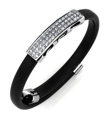 Destiny Jewellery Jackie Bracelet embellished with Swarovski crystals -Black/White Gold