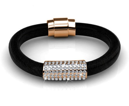 Destiny Jewellery Luxx Bracelet embellished with Swarovski crystals - Black