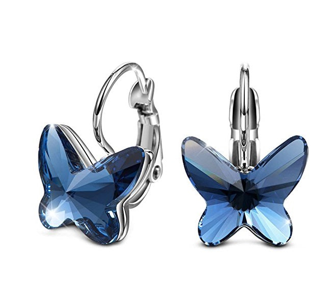 Destiny Jewellery Butterfly Dream Earring embellished with Swarovski Crystals