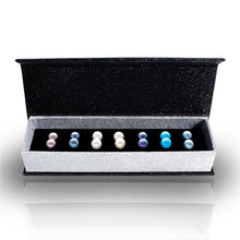 Load image into Gallery viewer, Destiny Jewellery Pearl 7 pair earring set embellished with Swarovski crystals