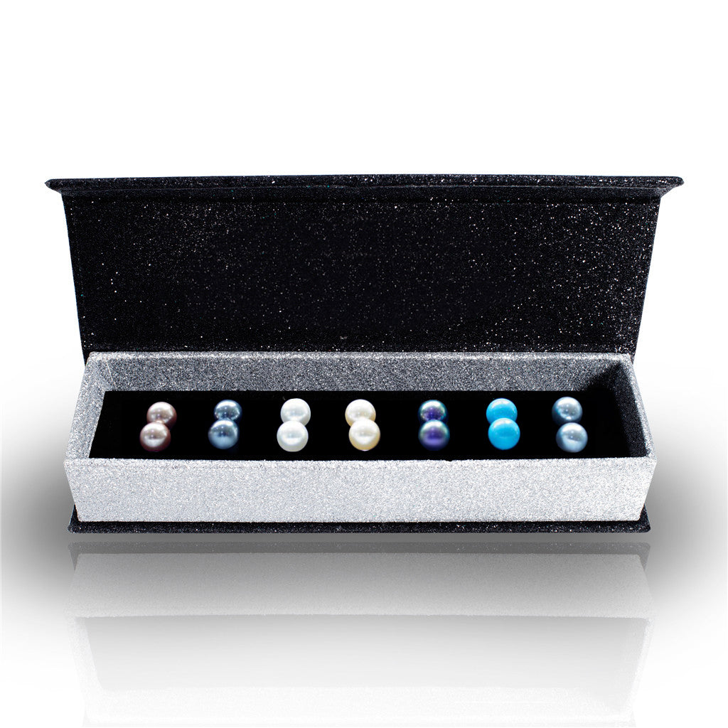 Destiny Pearl 7 pair earring set with Swarovski Pearls