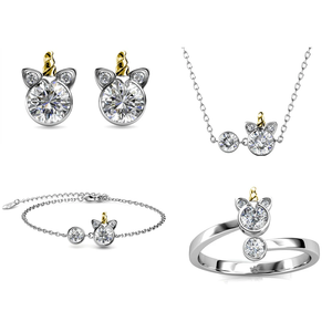 Destiny Unicorn Set with Crystals From Swarovski®