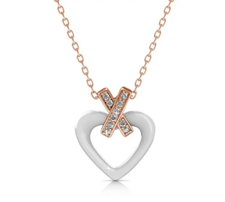 Destiny Kai heart Necklace with Swarovski Crystals