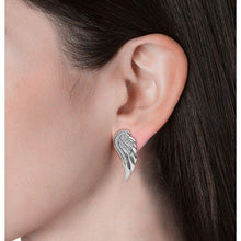 Load image into Gallery viewer, Destiny Angel wing earrings with Swarovski Crystals