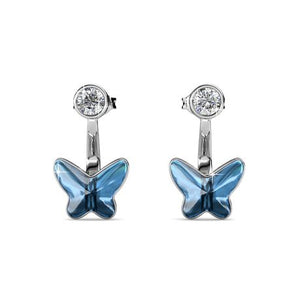 Destiny Butterfly Skye Earrings with Swarovski Crystals