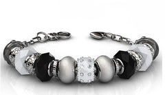 Destiny Jewellery Destiny charm Bracelet embellished with Swarovski crystals -available in 3 colours