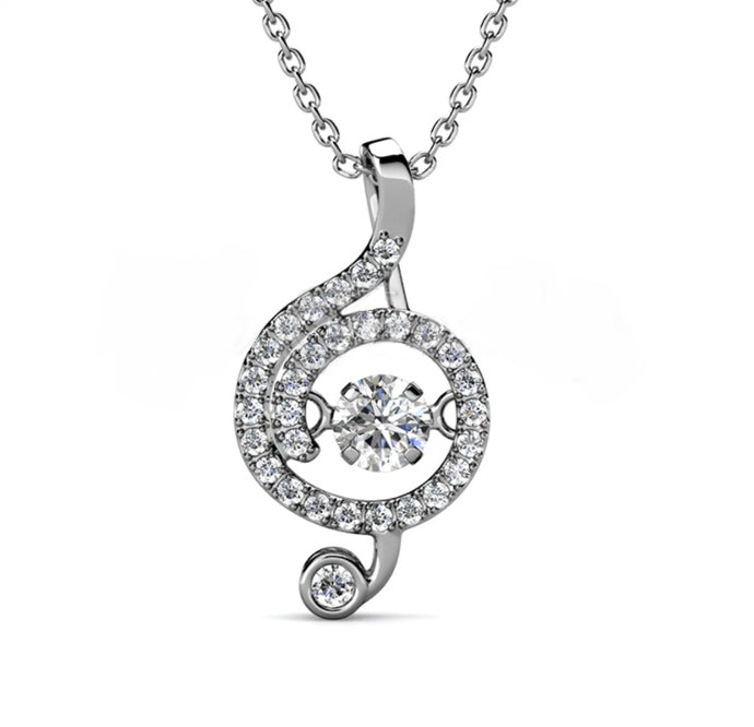 Destiny Dancing Musical Note Necklace with Swarovski Crystals