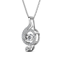 Load image into Gallery viewer, Destiny Dancing Musical Note Necklace with Swarovski Crystals