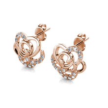 Load image into Gallery viewer, Destiny Blooming Rose Set With Crystals From Swarovski® - Rose gold