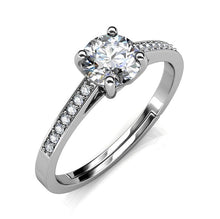 Load image into Gallery viewer, Celèsta 925 Sterling Silver 1.00ct Moissanite Duchess Ring