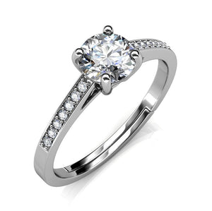 Celèsta 925 Sterling Silver 1.00ct Moissanite Duchess Ring