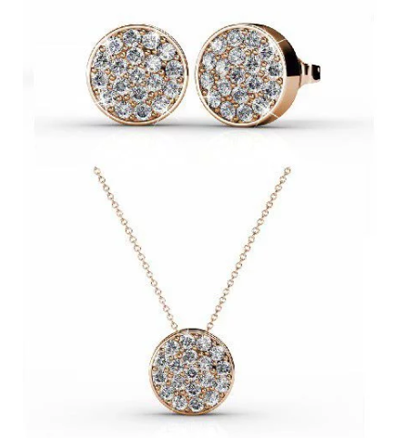 Destiny Alayna Set with Swarovski Crystals - Rose Gold
