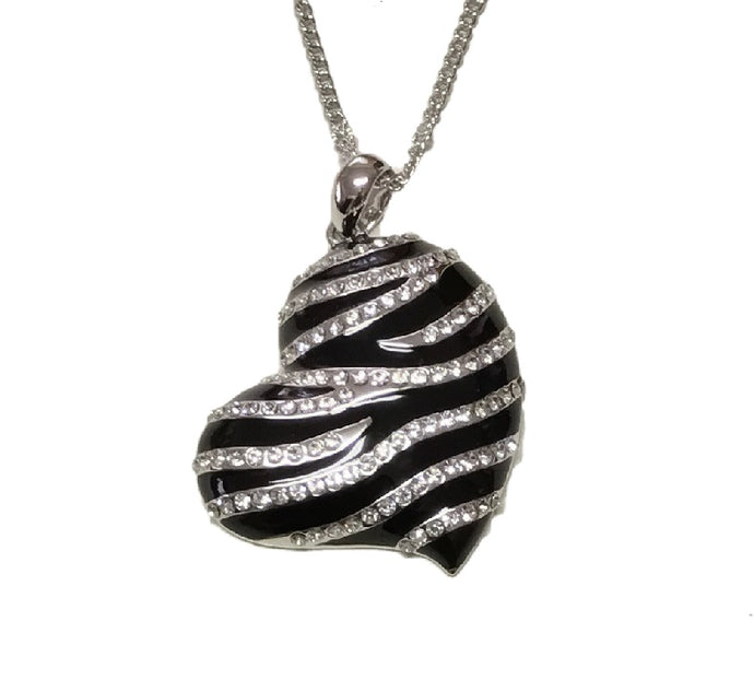 CDE Forbidden Heart Necklace embellished with Swarovski Crystals