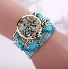 Crystal Rock Raw Emotion Rhinestone watch