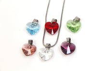 Load image into Gallery viewer, Crystal Rock 6 Heart Pendant Set with Swarovski Crystals