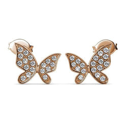 Destiny Butterfly Hope earring with Swarovski Crystals - Rose