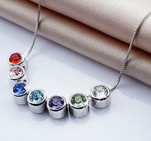 Load image into Gallery viewer, Destiny Jewellery 7 pendant necklace set embellished with Swarovski crystals