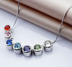 Destiny Jewellery 7 pendant necklace set embellished with Swarovski crystals