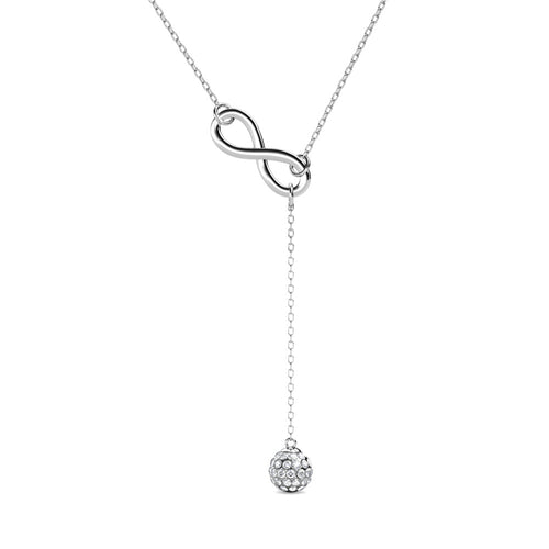 Destiny Infinity drop Necklace with Crystals from Swarovski®