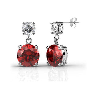 Destiny Julia Earrings Set with Swarovski Crystals - 7 Pairs