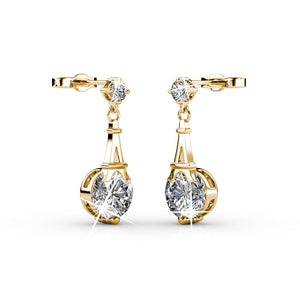Destiny Eiffel Tower Liza earrings with Swarovski crystals