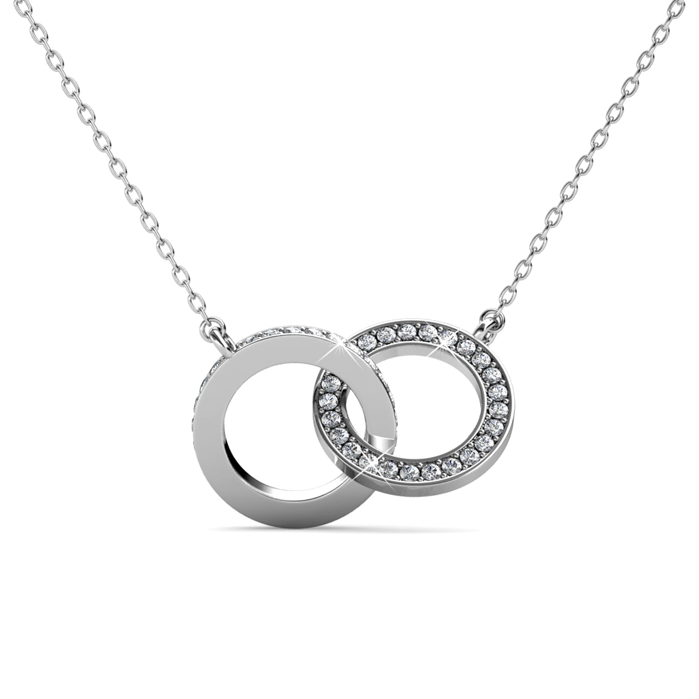 Destiny Mila Necklace with Swarovski Crystals - White