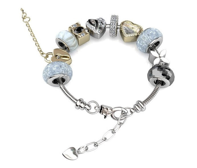 Destiny Jewellery MyLady charm Bracelet embellished with Swarovski crystals-available in 3 colours