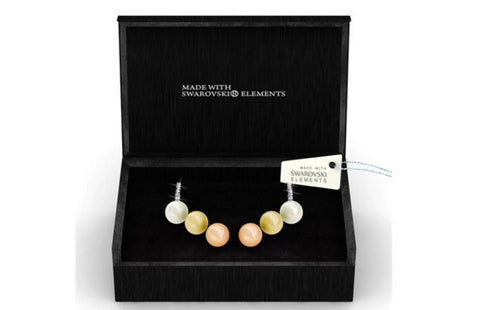Destiny Jewellery Sophie Pearl set earrings embellished with Swarovski crystals