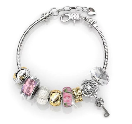 Destiny Madison Pink Bracelet with Swarovski Crystal