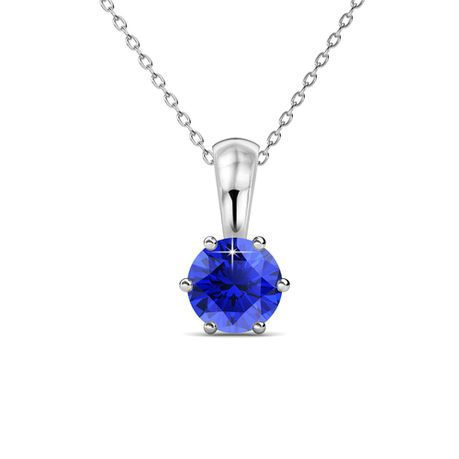 Destiny Sapphire Necklace with Swarovski Crystal