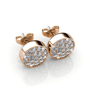 Destiny Savannah Earring with Swarovski Crystal - Rose