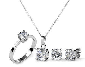 Destiny Jewellery Sweetheart Set embellished with Swarovski crystals