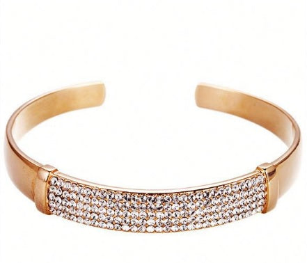 CDE Rose Gold Simone Bracelet embellished with Swarovski Crystals