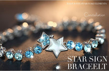 Load image into Gallery viewer, Stunning stars Swarovski bracelet with rhodium plating