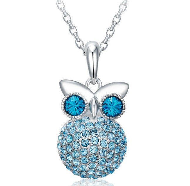 Copy of Stunning stars Swarovski pendant with rhodium plated necklace