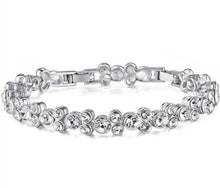 Load image into Gallery viewer, CDE Niki bracelet with rhodium plating embellished with Swarovski crystals