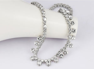 CDE Niki bracelet with rhodium plating embellished with Swarovski crystals