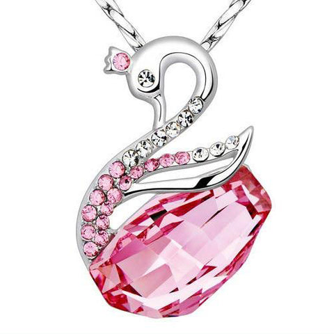 925 Sterling silver Swarovski Swan pendant with 925 sterling silver necklace