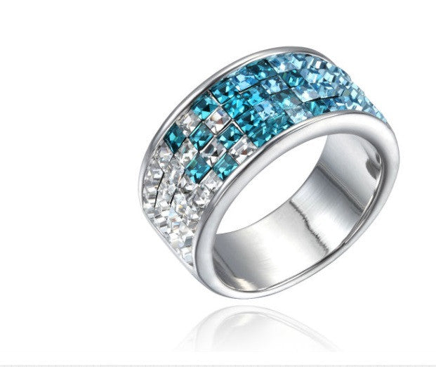 Swarovski ring with rhodium plating size 6