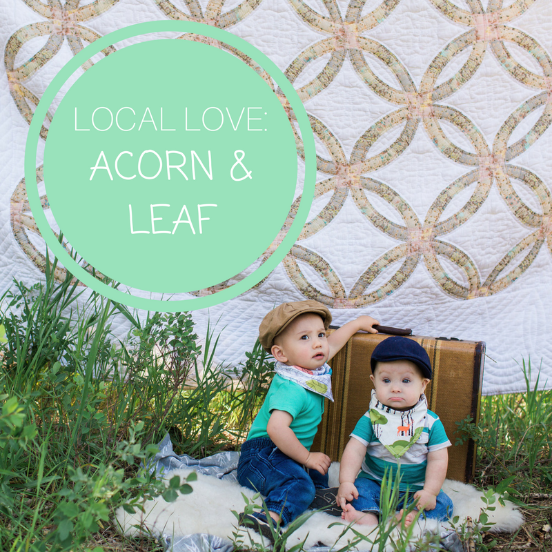 Local Love: Our newest collection Acorn & Leaf bandana bibs