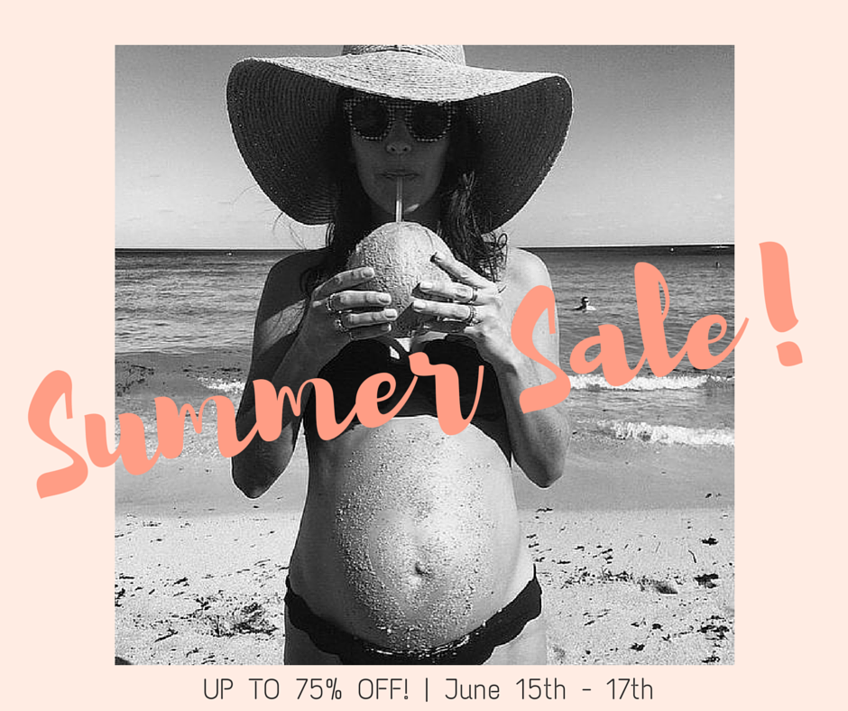 It's bout that time...Up to 75% Off Summer Maternity, Nursing + Bebe!