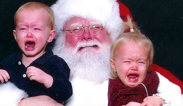 Santa Baby | 10 hilarious photo ideas for your children and Santa