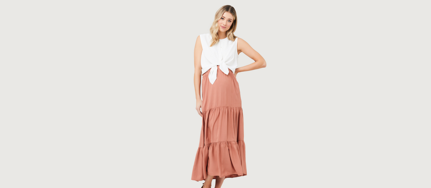 Maternity vacation dresses, nursing vacation outfits, breastfeeding vacation style.