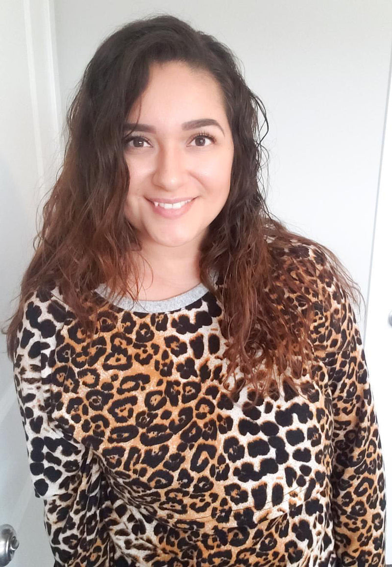 Laura Leopard Nursing Top