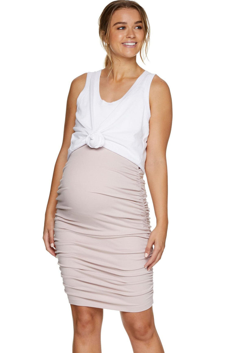 Kourtney Halter Nursing Dress