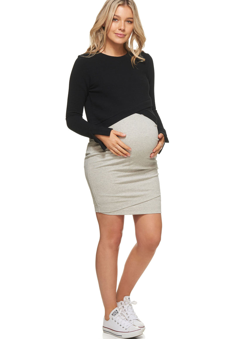 Christine Black Maternity Dress