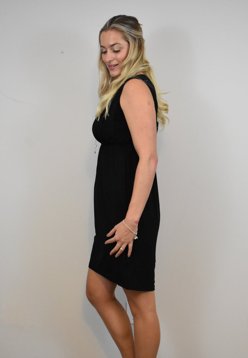 Viviane Nursing Dress Black