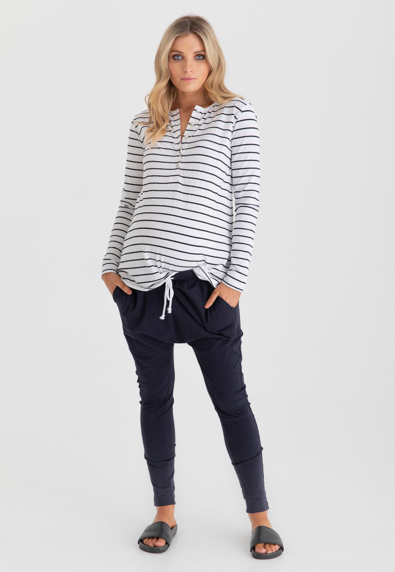 Flatter Me Long Sleeve Maternity Top / Nursing Top