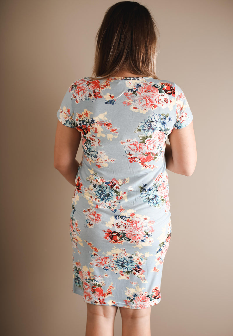 Kasy Floral Maternity & Nursing Dress